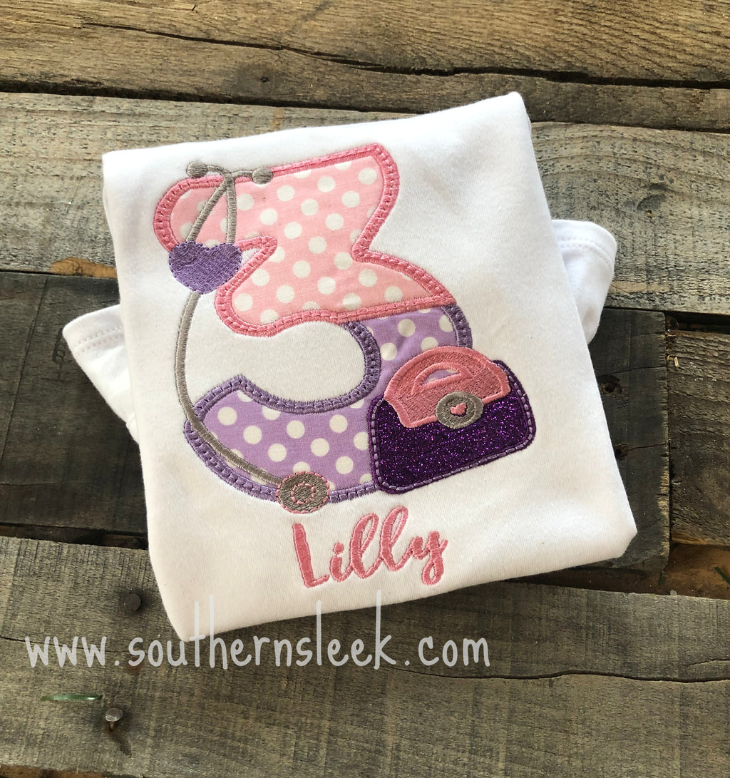 Doc McStuffins Themed Birthday Embroidered Shirt or Bodysuit