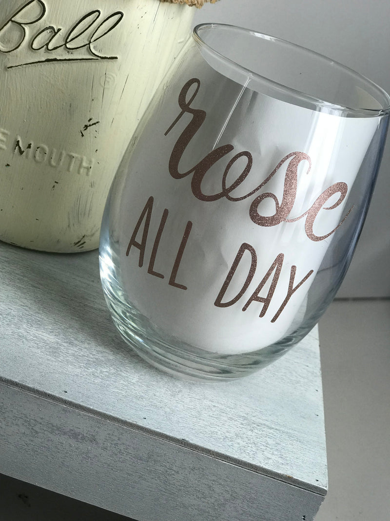 Rose All Day Stemless Wine Glass