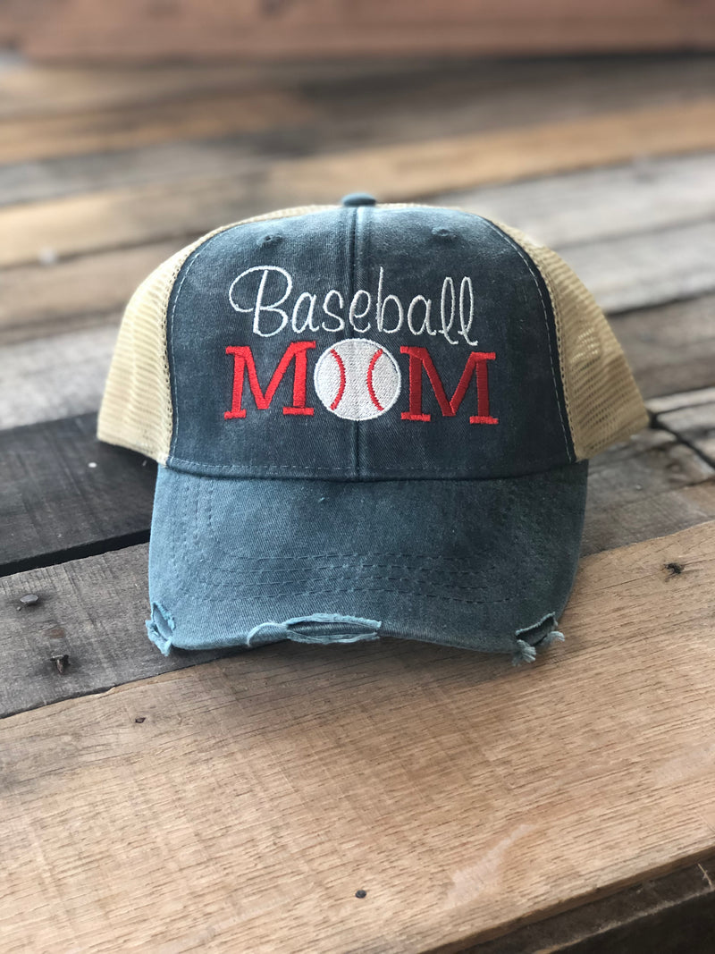 Baseball Mom Hat Navy