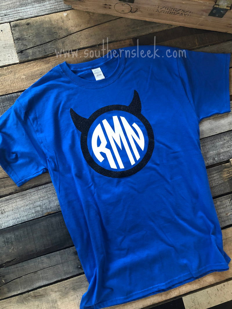 Duke Themed Monogrammed Shirt