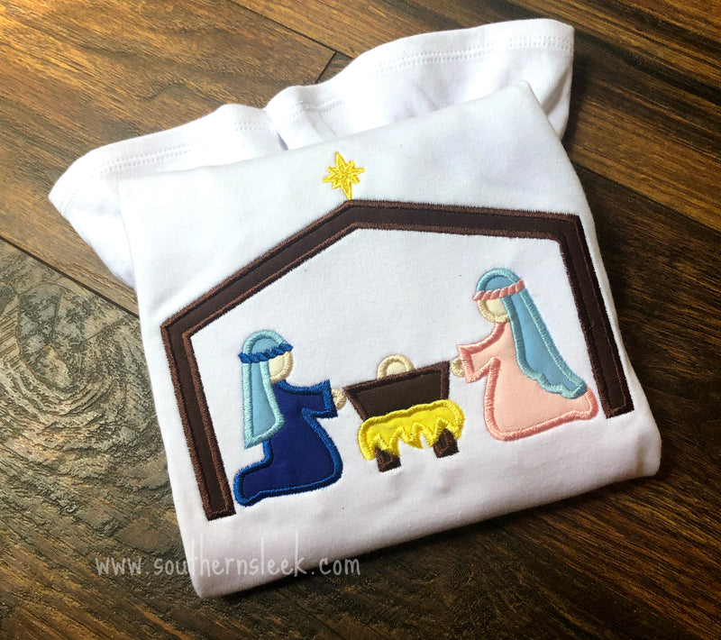 Nativity Embroidered Shirt or Bodysuit