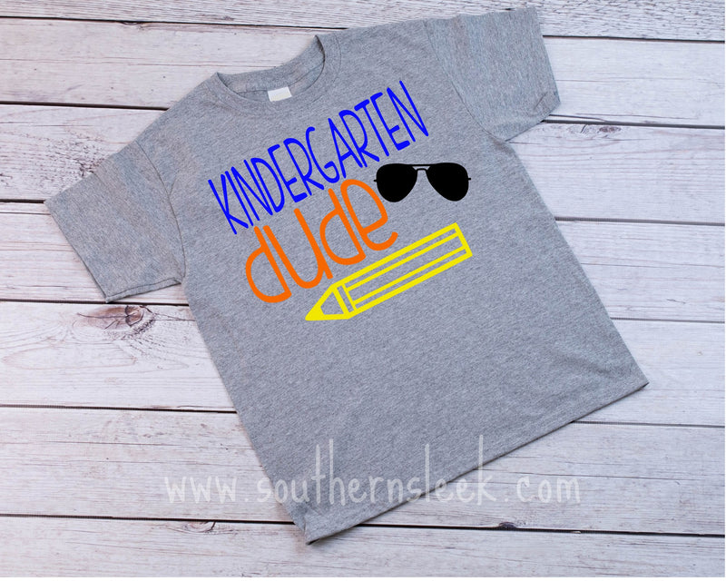 Kindergarten Dude Grey Shirt