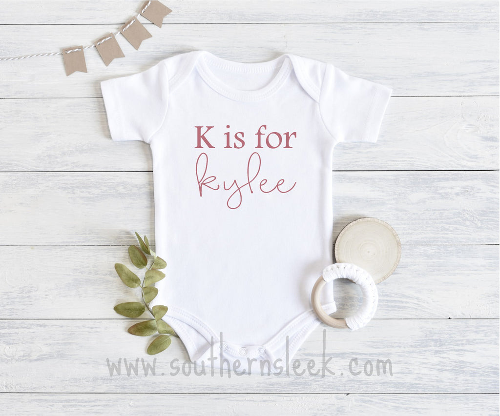 Personalized Rose Gold Bodysuit
