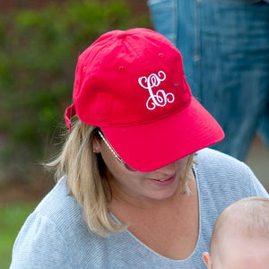 Red Monogrammed Hat
