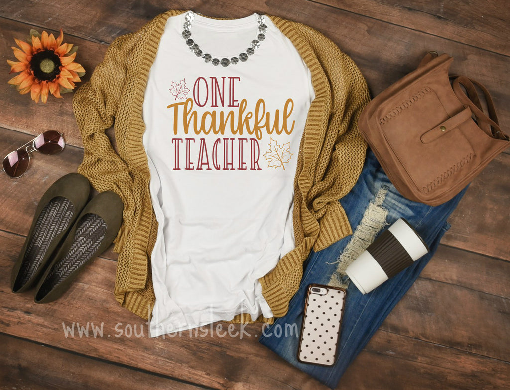 One Thankful Teacher Shirt