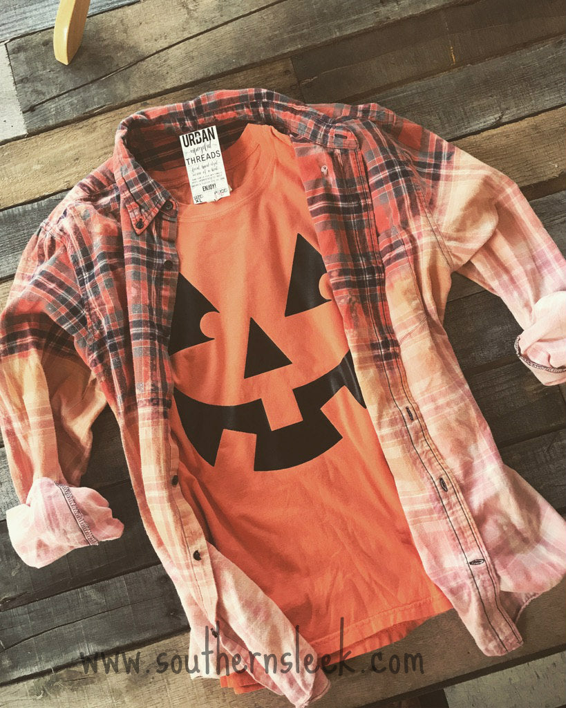 Halloween Pumpkin Themed Comfort Colors Shirt