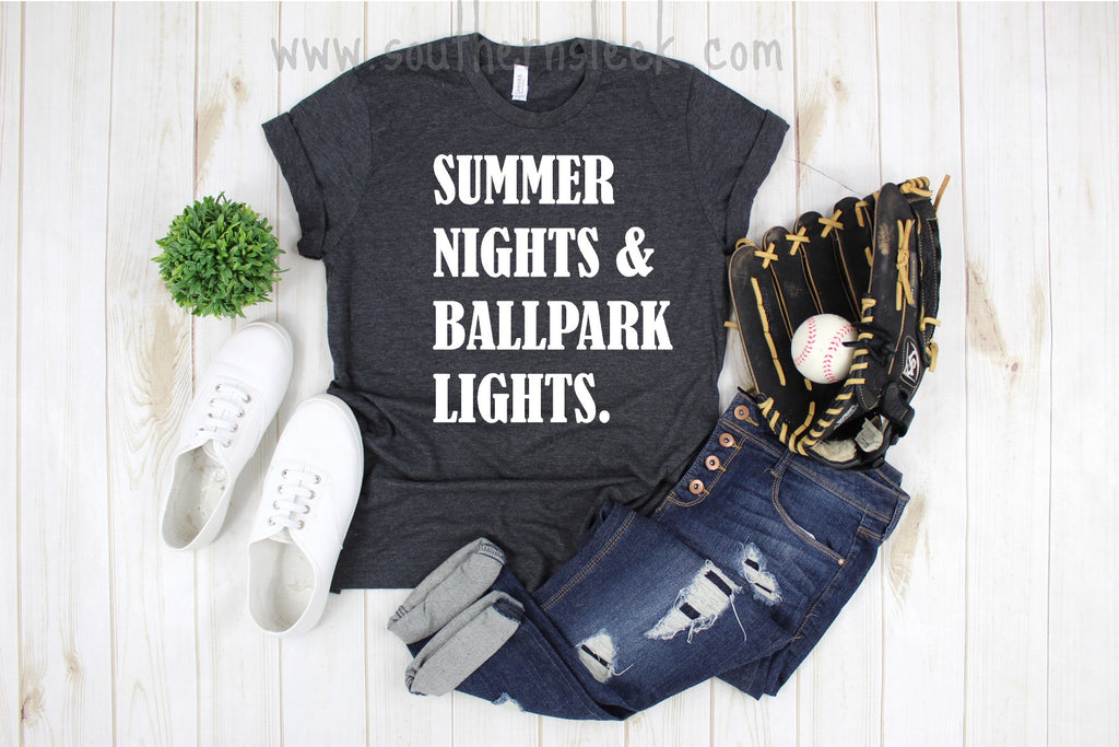 Summer Nights & Ballpark Lights Baseball Shirt