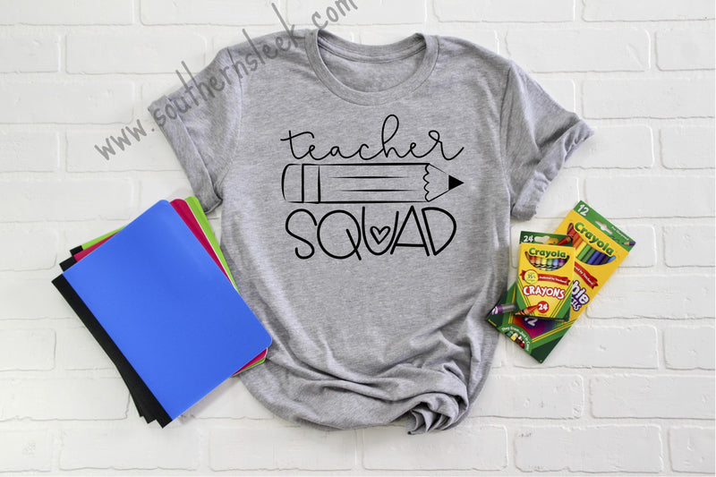 Teacher Squad Gray Shirt