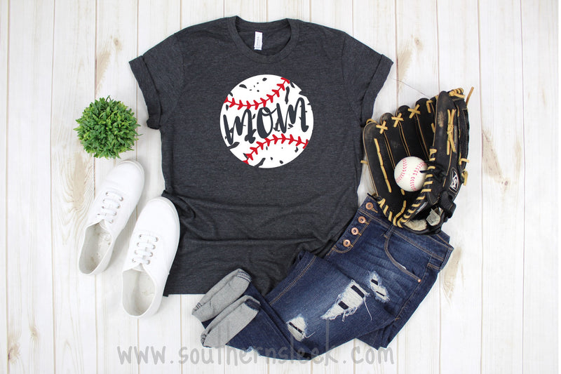 Baseball Mom Distressed Shirt
