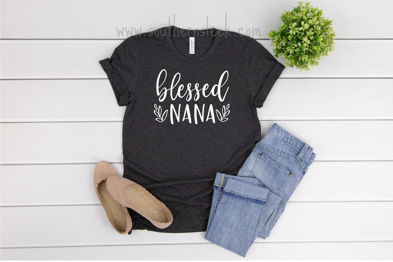 Bless Nana Charcoal Grey Shirt