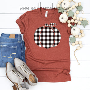 Buffalo Plaid Pumpkin Shirt