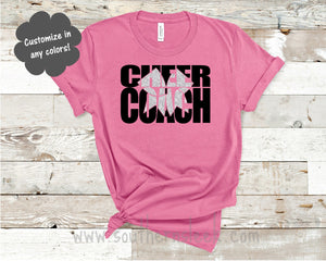 Cheer Coach with Glitter Bow Shirt