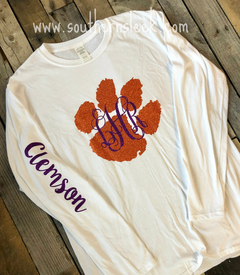 Clemson Tigers Monogrammed T-Shirt (Adult & Youth)