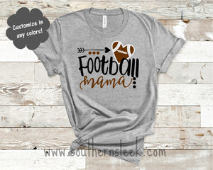 Football Mama Grey Shirt