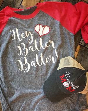 Hey Batter Batter Baseball Raglan