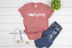 Happy Thanksgiving Disney Themed Mauve Shirt