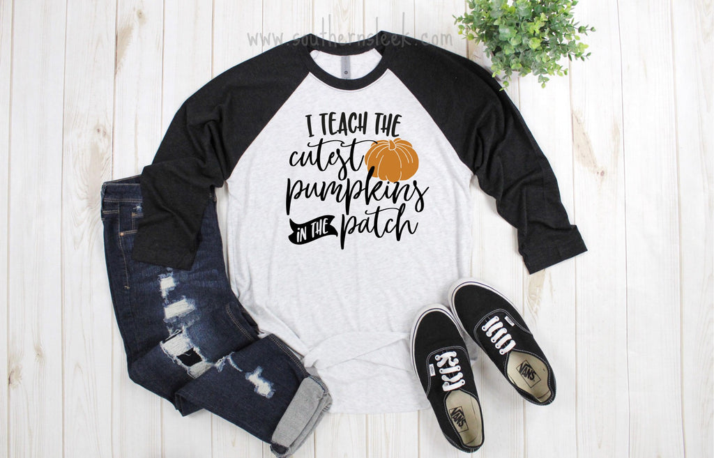 I Teach The Cutest Pumpkins in the Patch Raglan