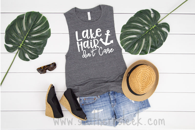 Lake Hair Don't Care Tank Top