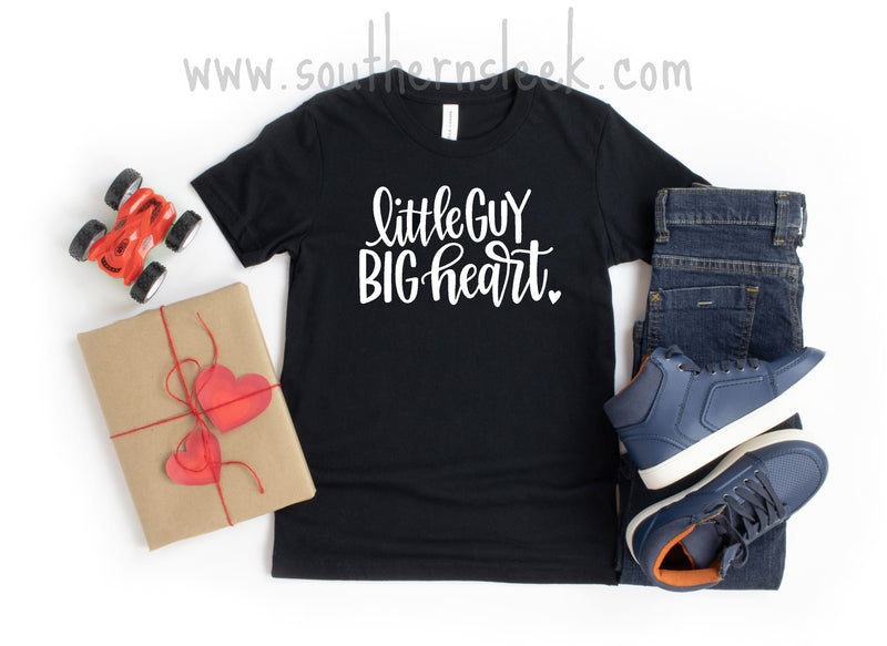 Little Guy Big Heart Black Shirt