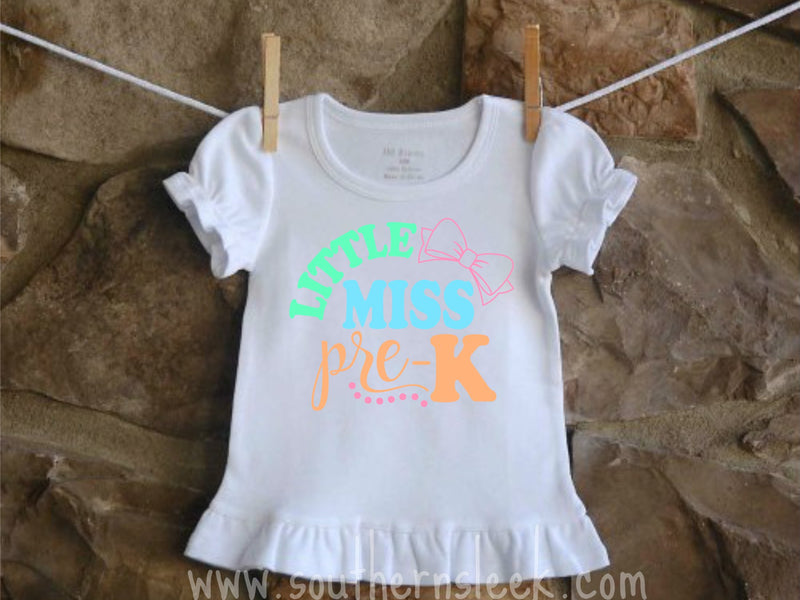 Little Miss Pre-K Shirt