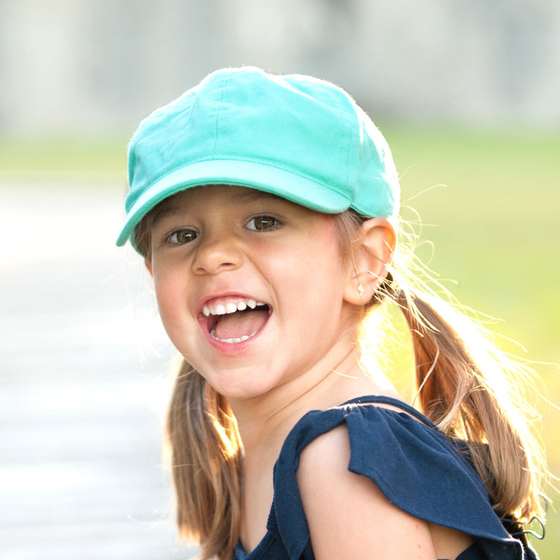 Kid's Mint Monogrammed Hat