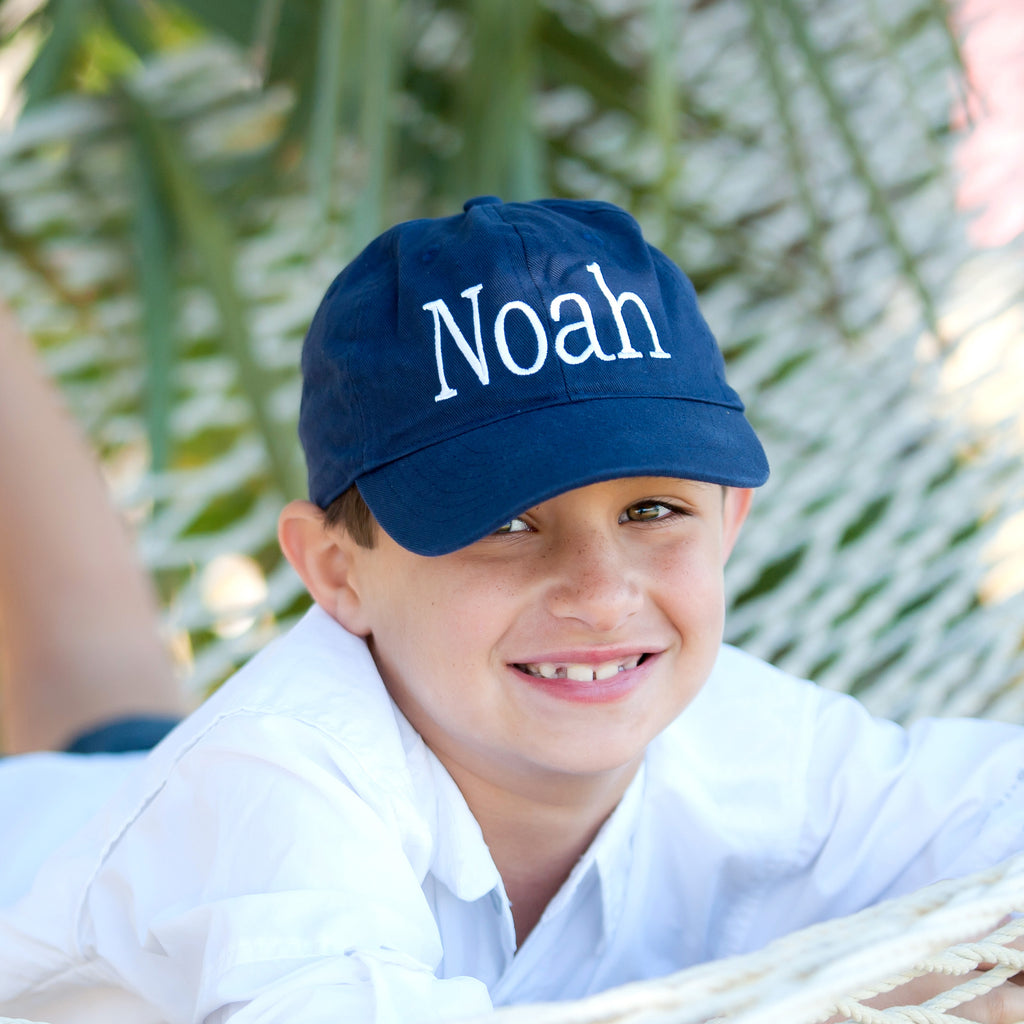 Kid's Navy Monogrammed Hat