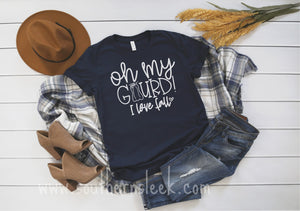 Oh My Gourd I Love Fall Navy Shirt