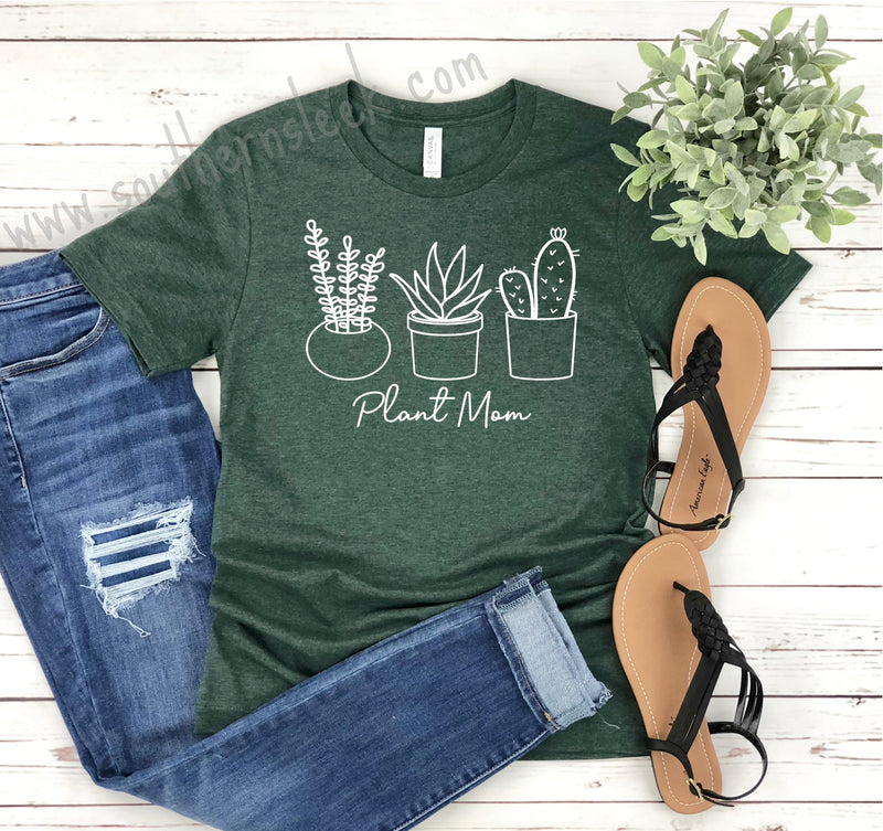 Plant Mom Green Shirt