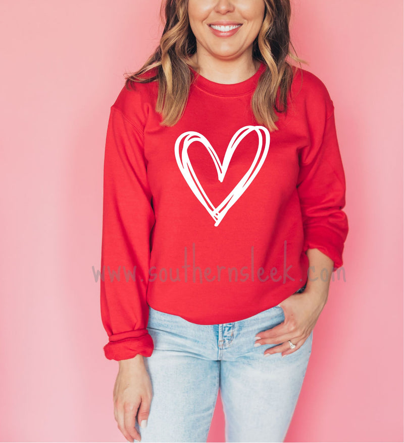 Valentine's Day Heart Red Sweatshirt