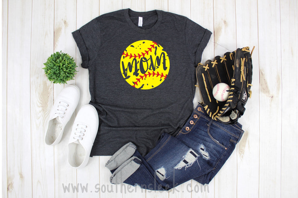 Softball Mom Distressed Shirt