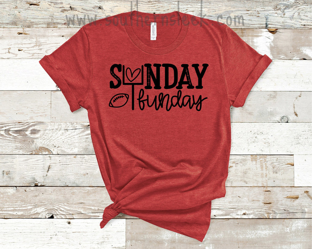 Sunday Funday Red & Black Shirt