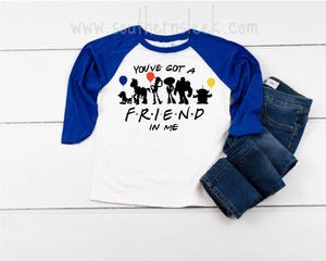 Kid's You've Got A Friend in Me Blue Raglan