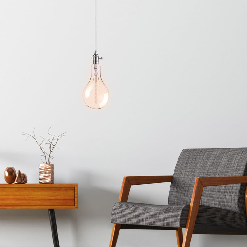 jumbo oversized filament light globe 4w E27 hanging in a sitting room