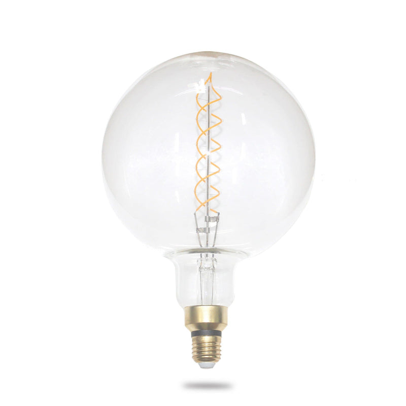 oversized filament globe 4w double spiral on a white background