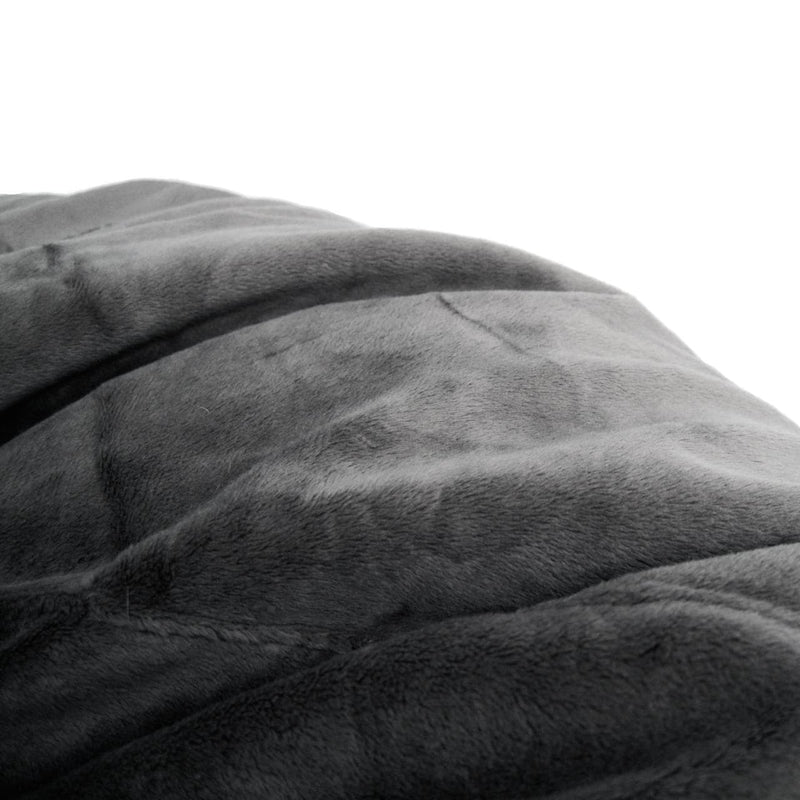 black fur pierre bean bag detail