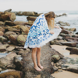 Organic Cotton Round Beach Towel - Watercolour