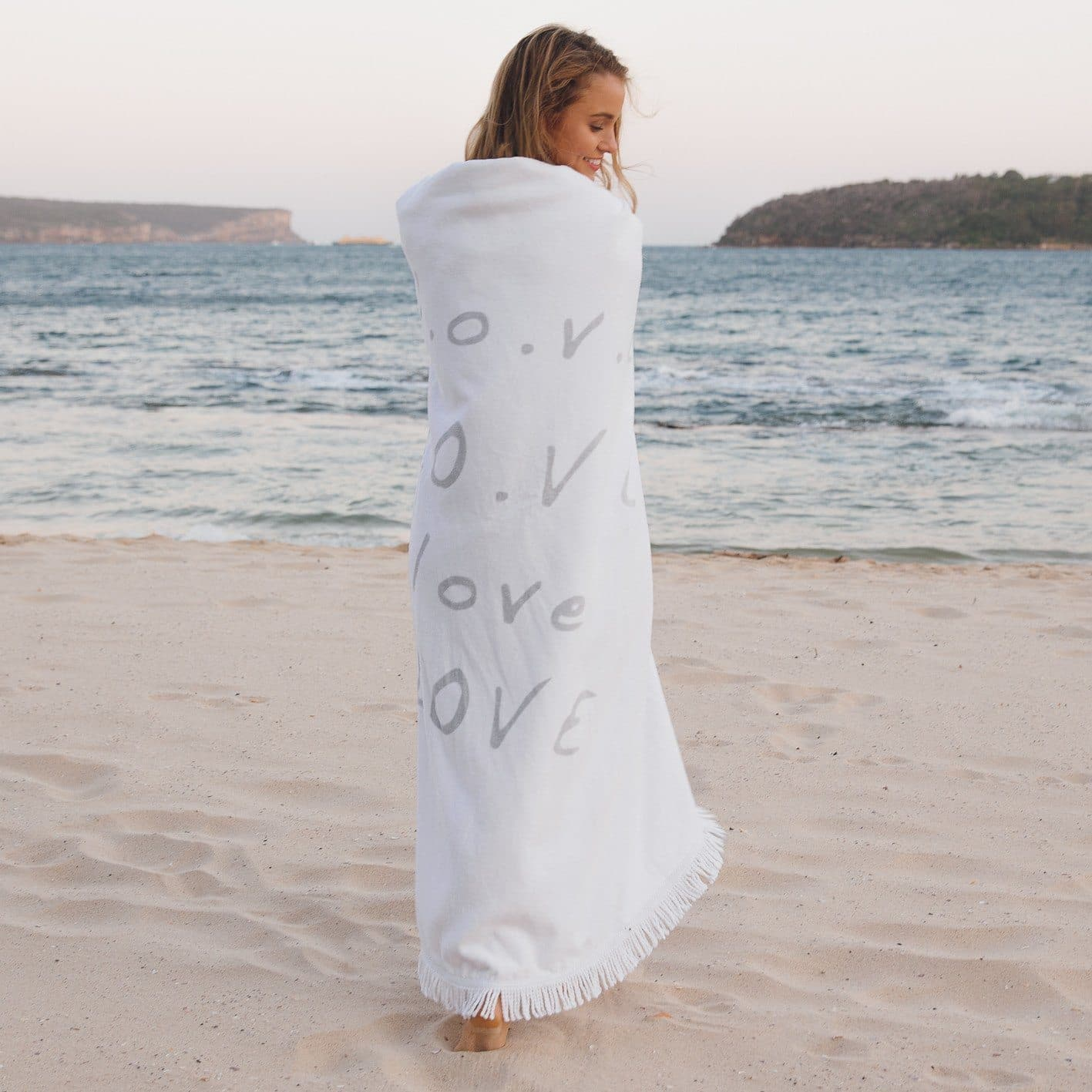 Round Beach Towel - Love Always