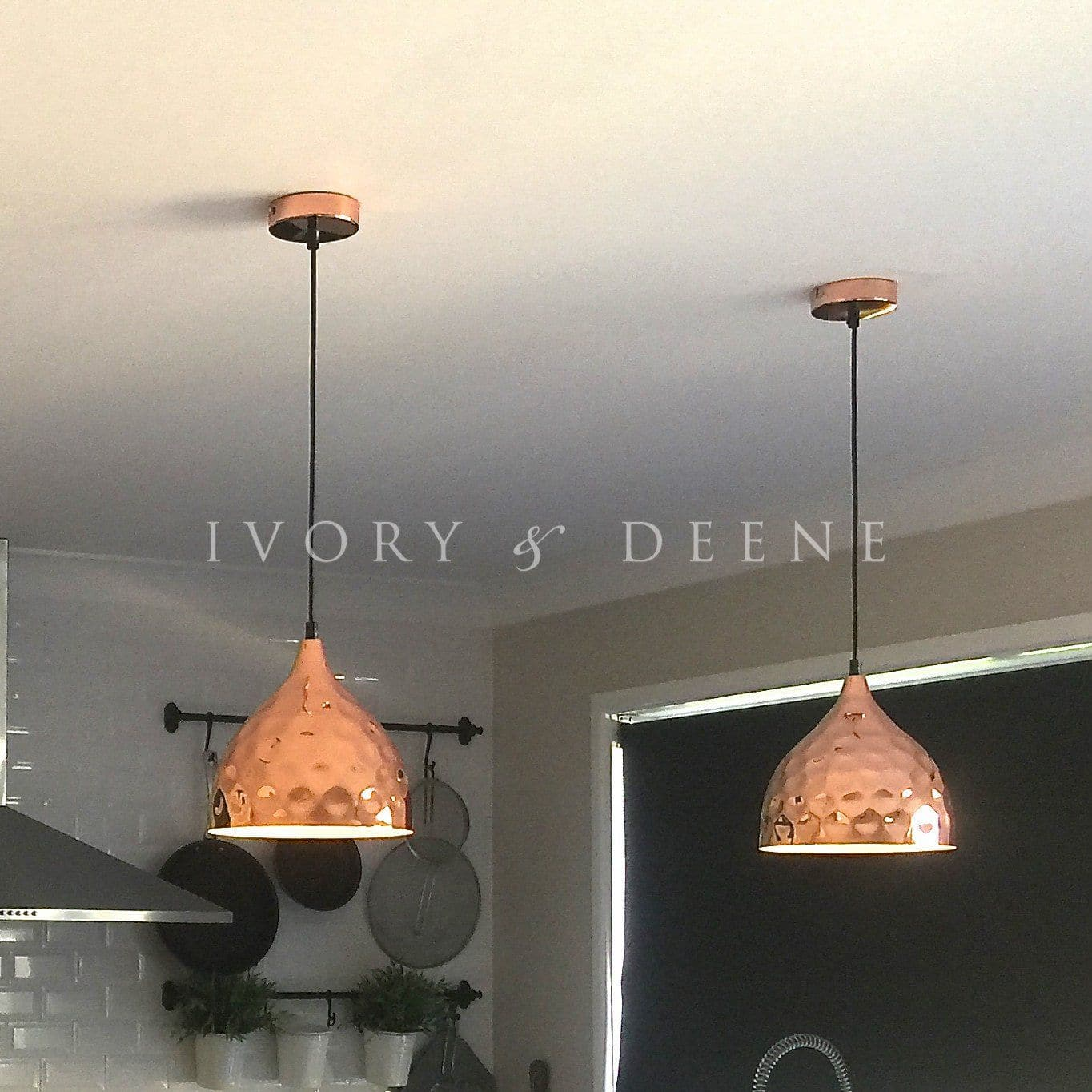 Pendant Light - Copper Hammered - Nora