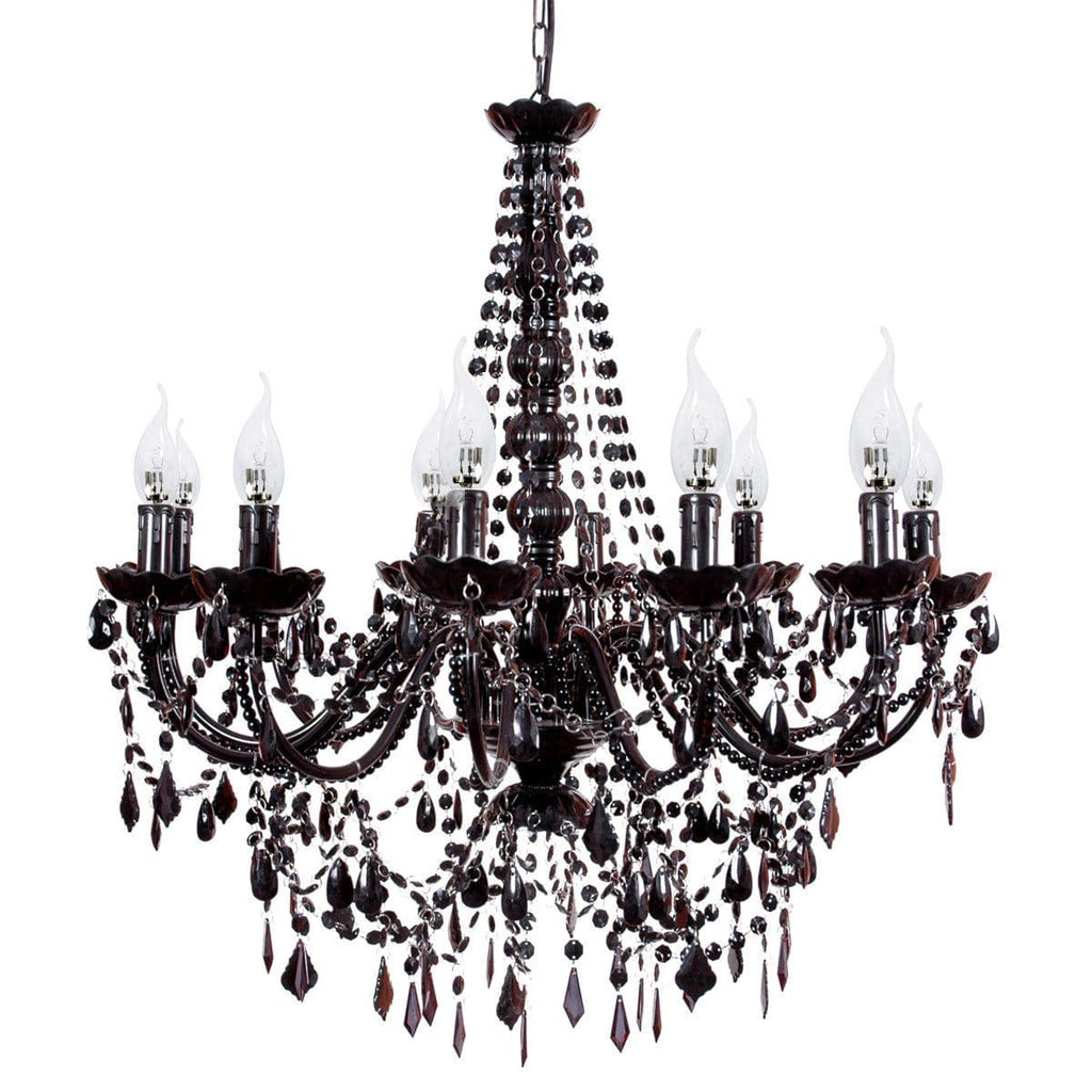 Cassie chandelier large black french provincial ivory deene large black chandelier on white background aloadofball Image collections