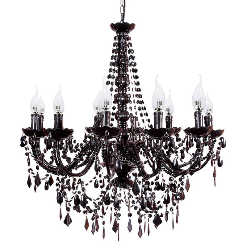 large black chandelier on white background