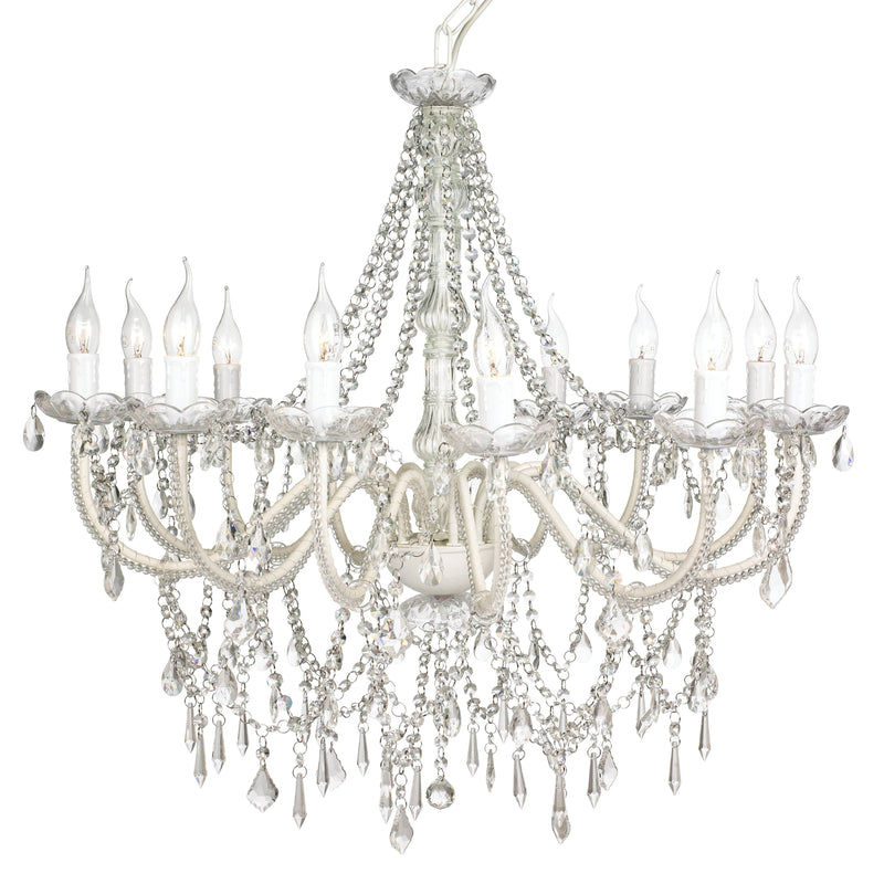 large french provincial chandelier on white background