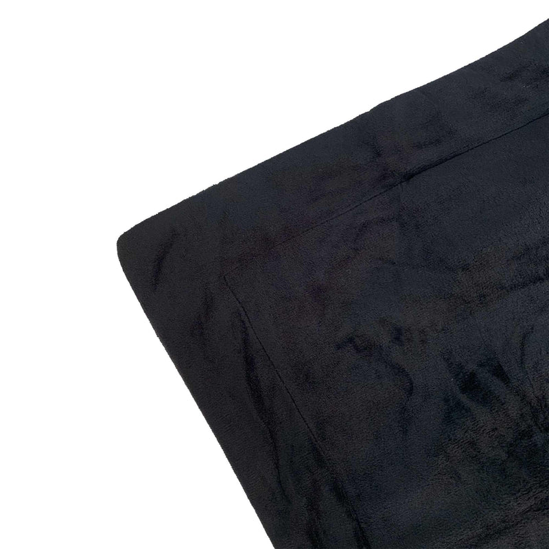 black velvet fur quilt cover fabric edge detail