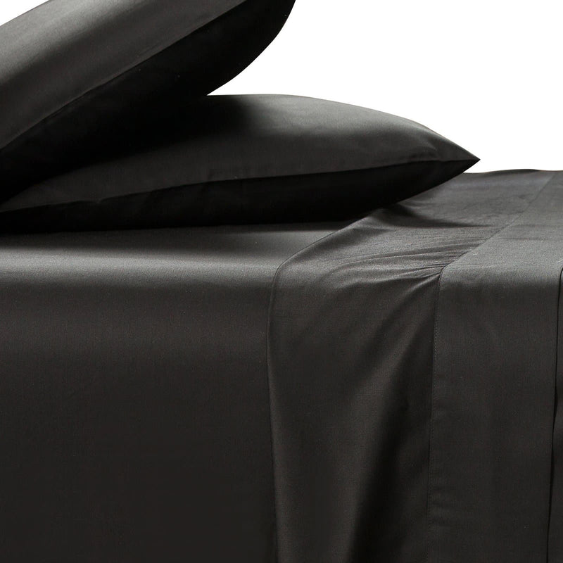 bamboo sheet set 400 thread count black with pillows