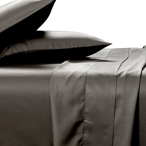 charcoal sheet set in 100% bamboo fabric