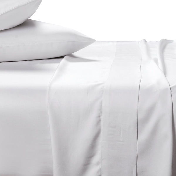 bamboo sheet set in white on white background