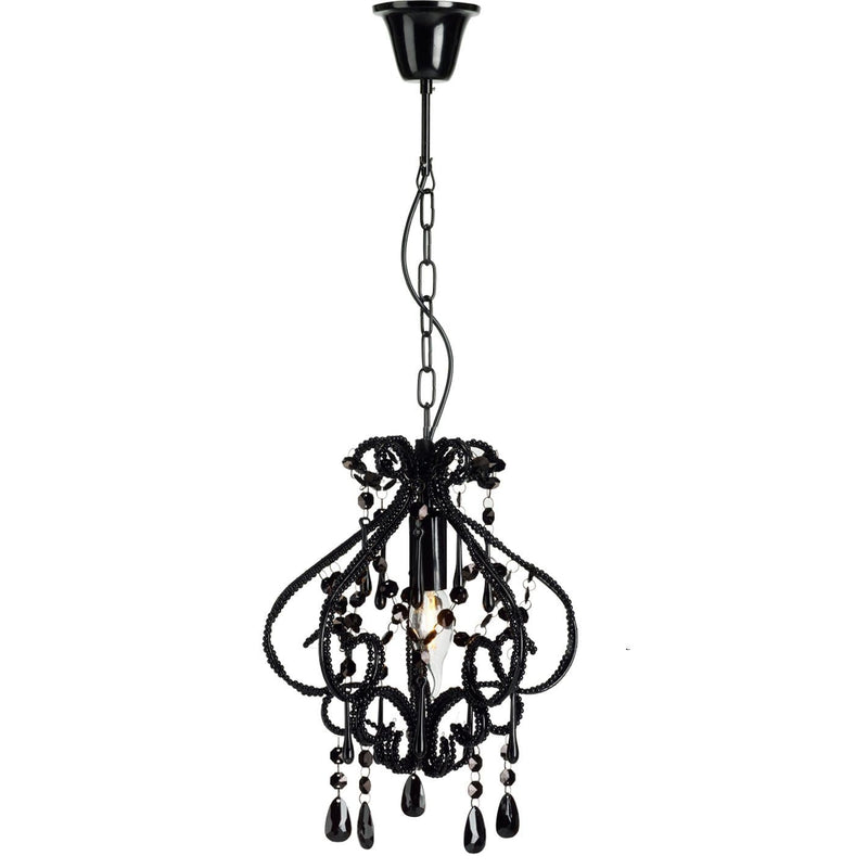 small black bedroom chandelier on white background