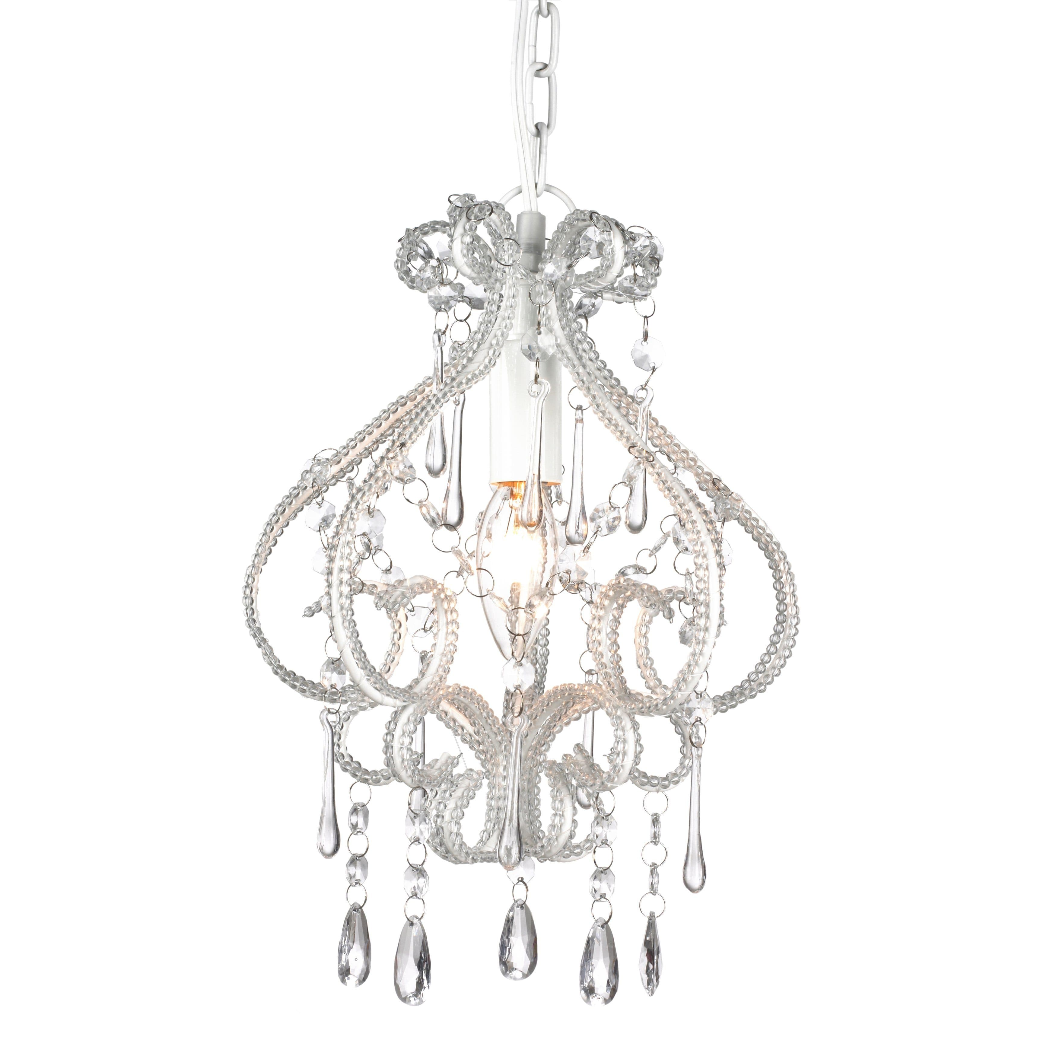 White Chandelier 1 Light French Provincial Darling