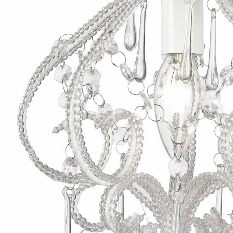 White chandelier 1 light french provincial darling ivory white shabby chic chandelier details aloadofball Choice Image