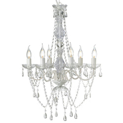 white romance gypsy chandelier on white background