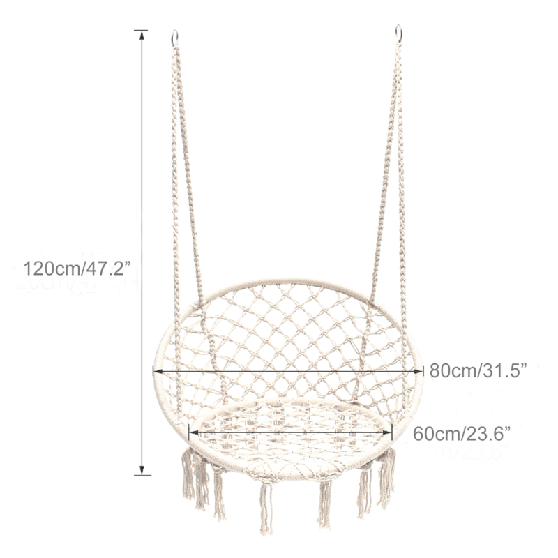 Madrid Macrame Chair Swing - Cream